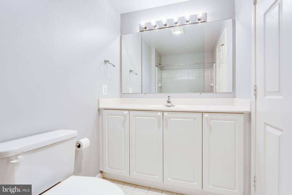 Guest bathroom with plenty of counter space - 19365 CYPRESS RIDGE TER #418, LEESBURG
