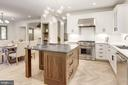 Walnut island with soapstone counters - 3601 VAN NESS ST NW, WASHINGTON