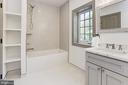 Spacious hall bath w/ built-ins - 3601 VAN NESS ST NW, WASHINGTON