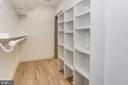 Large walk-in closet w/ built-ins - 3601 VAN NESS ST NW, WASHINGTON