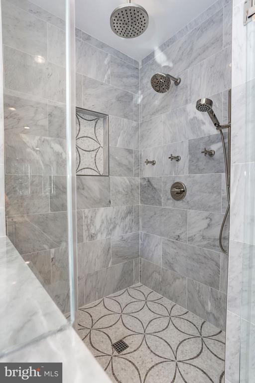 Large shower with dual rain-heads - 3601 VAN NESS ST NW, WASHINGTON