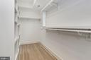 Large walk-in closet - 3601 VAN NESS ST NW, WASHINGTON