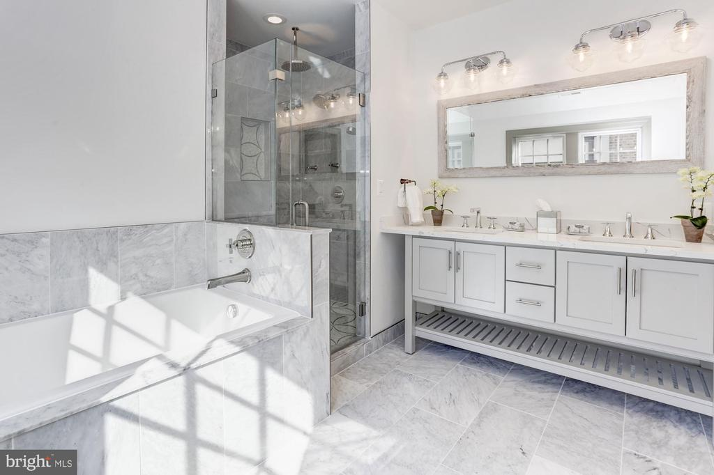 Spa-like master bath - 3601 VAN NESS ST NW, WASHINGTON