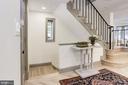 Main entry w/herringbone wood floors - 3601 VAN NESS ST NW, WASHINGTON