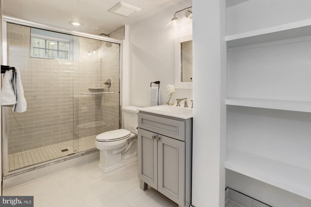 Basement full bath - 3601 VAN NESS ST NW, WASHINGTON