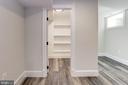 Basement fifth bedroom walk-in closet - 3601 VAN NESS ST NW, WASHINGTON