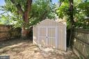 Shed for outdoor storage - 2142 S OXFORD ST, ARLINGTON