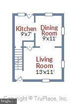 Main Level Floor Plan - 2142 S OXFORD ST, ARLINGTON