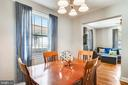 Open floor plan for easy flow from DR to LR - 2142 S OXFORD ST, ARLINGTON