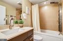 The first floor full bath. - 1400 K ST SE #2, WASHINGTON