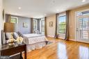 The master bedroom also opens to a balcony. - 1400 K ST SE #2, WASHINGTON
