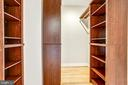 Custom walk-in master bedroom closet. - 1400 K ST SE #2, WASHINGTON