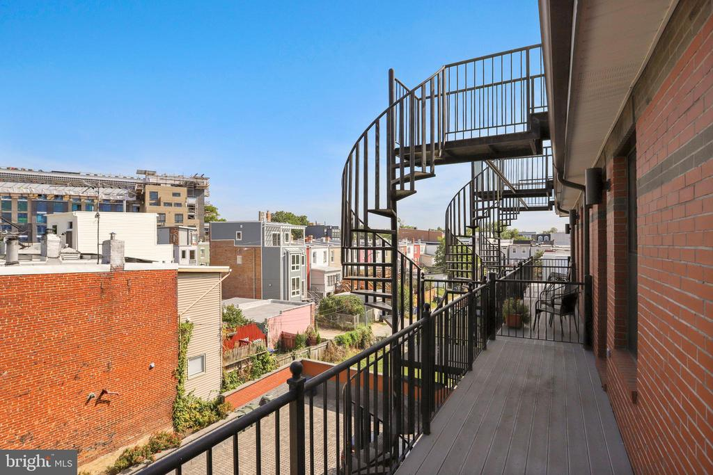 Stairs to the roof deck, - 1400 K ST SE #2, WASHINGTON