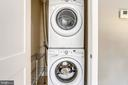 Master bedroom level laundry. - 1400 K ST SE #2, WASHINGTON