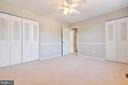 Bedroom 3 has two closets - 5304 KAYWOOD CT, FAIRFAX