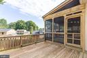 Fantastic sun deck for entertaining - 5304 KAYWOOD CT, FAIRFAX