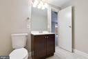 Renovated powder room in lower level - 5304 KAYWOOD CT, FAIRFAX