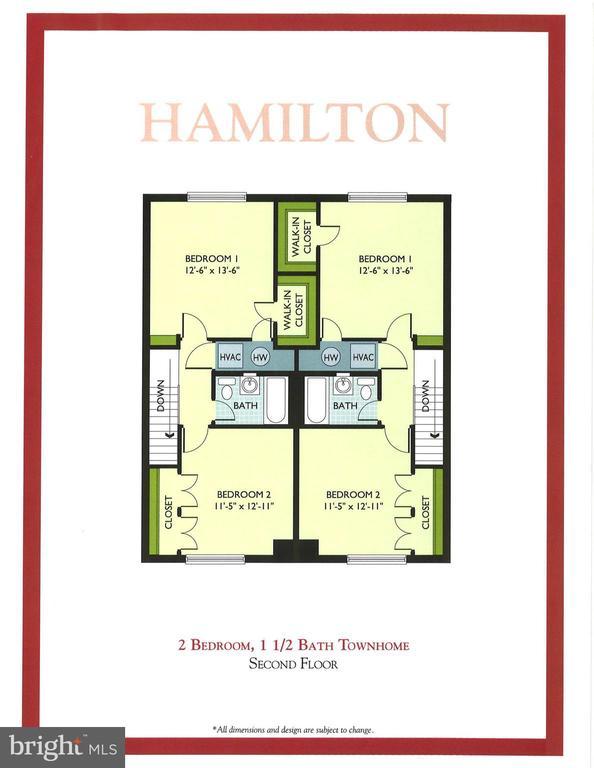 Floor plan - upper level - 1289 N VAN DORN ST, ALEXANDRIA