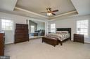 MASTER BEDROOM W/ TREY CEILING AND SITTING AREA - 5401 ADAMSTOWN COMMONS DR, ADAMSTOWN