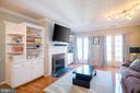 Living Room w/ Custom Built-Ins + Juliet Balconies - 1952 N CLEVELAND ST #1, ARLINGTON