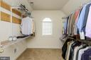 MASTER CLOSET - 5401 ADAMSTOWN COMMONS DR, ADAMSTOWN