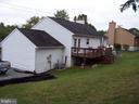 REAR VIEW OF HOME AND GARAGE - 11504 GORDON RD, FREDERICKSBURG