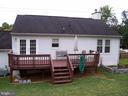 REAR VIEW OF HOME WITH DECK - 11504 GORDON RD, FREDERICKSBURG