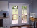 FRENCH DOORS FROM KITCHEN TO DECK - 11504 GORDON RD, FREDERICKSBURG