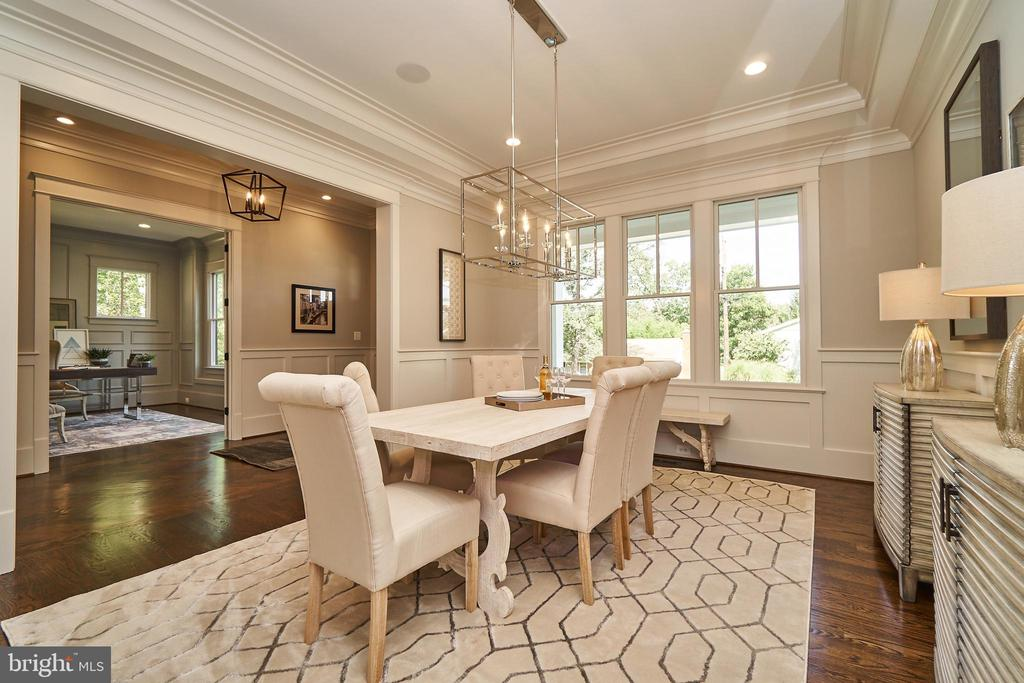 Dining Room with wainscoting - 3616 N UPLAND ST, ARLINGTON