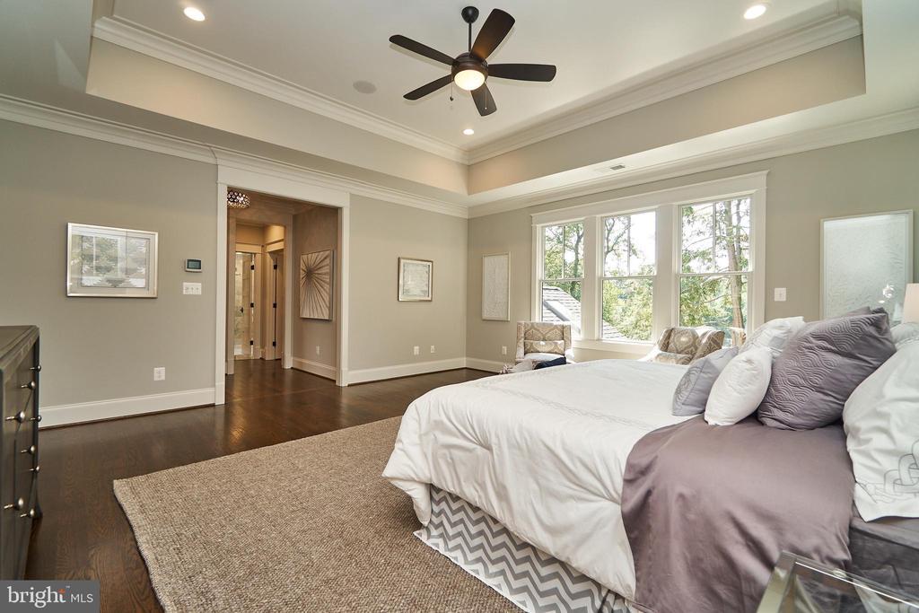Master bedroom.  Tray ceiling. - 3616 N UPLAND ST, ARLINGTON
