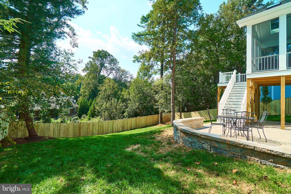 Back yard. 6' privacy fence. - 3616 N UPLAND ST, ARLINGTON