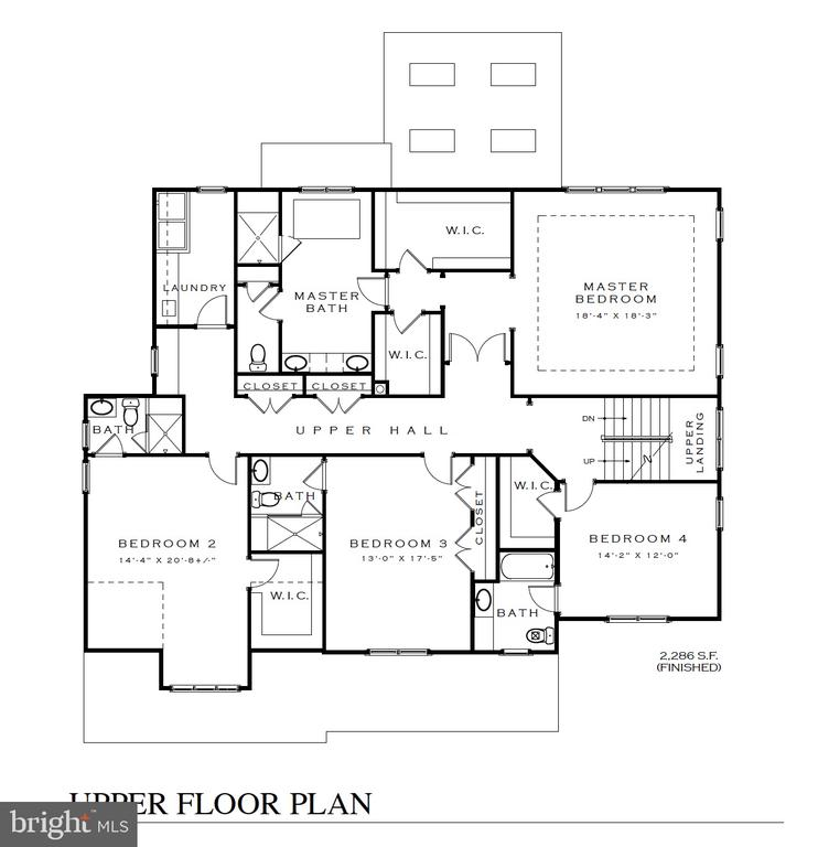 2nd floor plan - 3616 N UPLAND ST, ARLINGTON