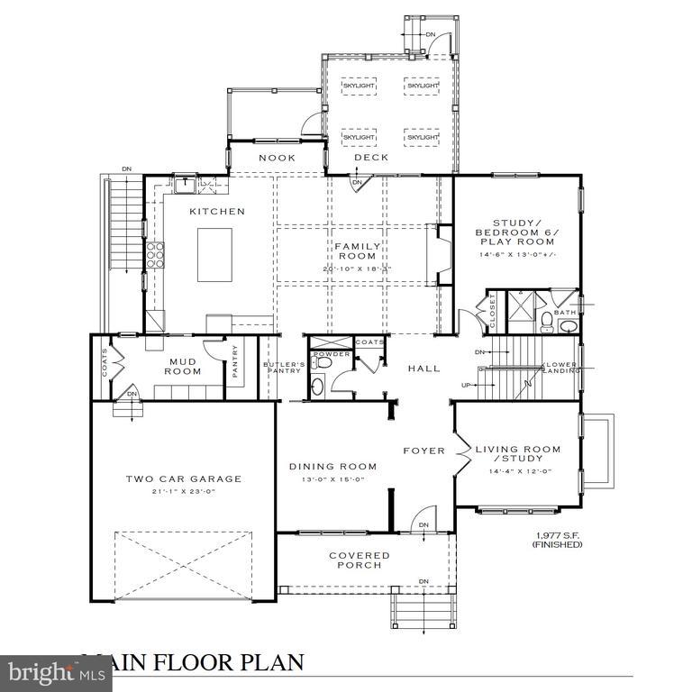 First floor/Main level floor plan - 3616 N UPLAND ST, ARLINGTON