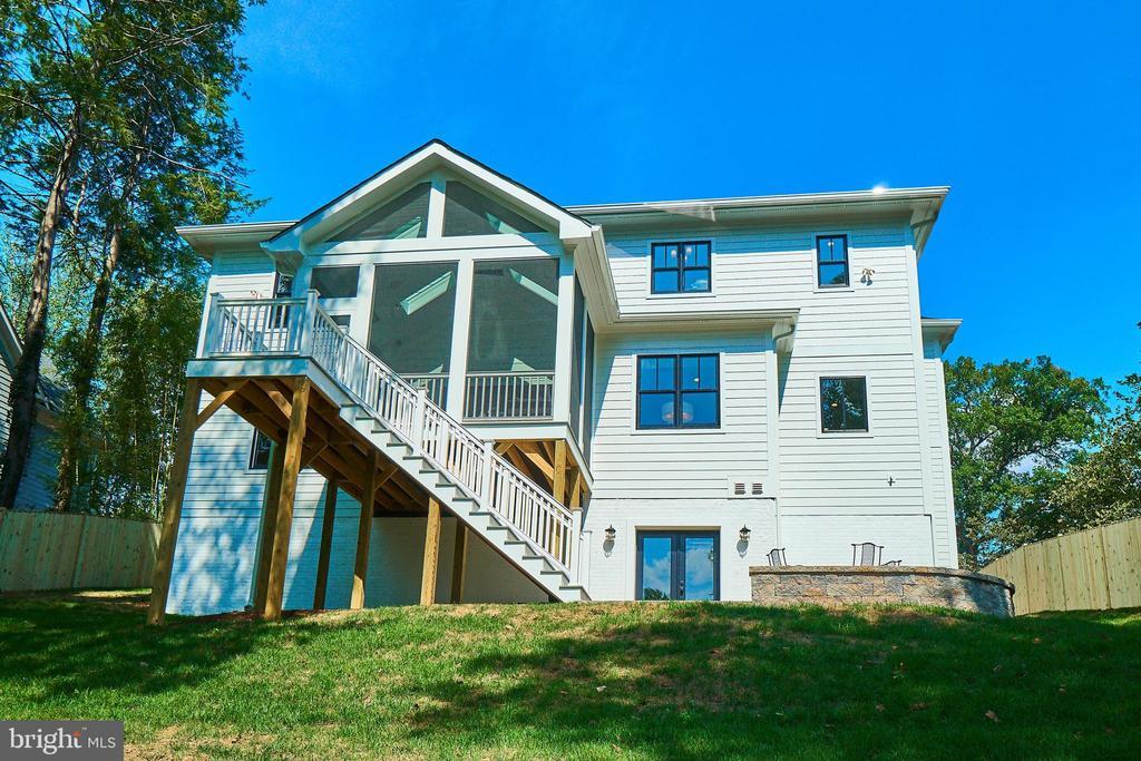 Back elevation. - 3616 N UPLAND ST, ARLINGTON