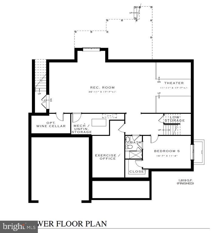 Basement Floor plan - 3616 N UPLAND ST, ARLINGTON