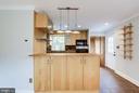 Kitchen with Modern Lighting - 2902 LANDOVER ST, ALEXANDRIA