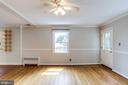 Living Area with Ceiling Fan and Hardwood Floors - 2902 LANDOVER ST, ALEXANDRIA