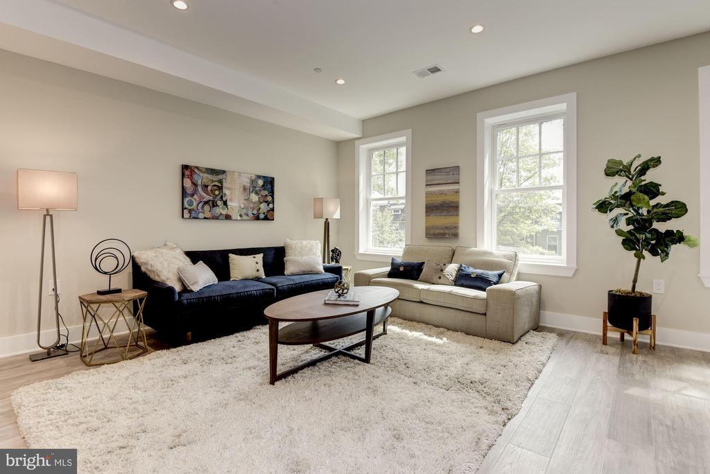 Living Room - one of two - 1715 KENYON ST NW #2, WASHINGTON