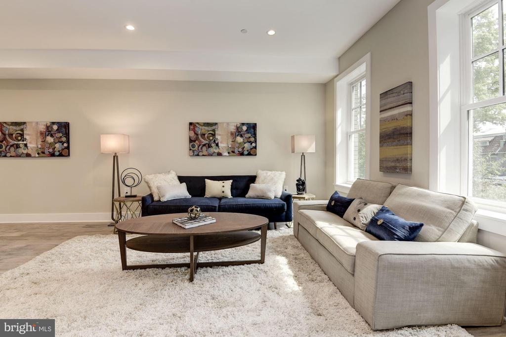 Three tall Windows in Living Room - 1715 KENYON ST NW #2, WASHINGTON