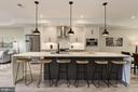 Grand Kitchen Island - 1715 KENYON ST NW #2, WASHINGTON