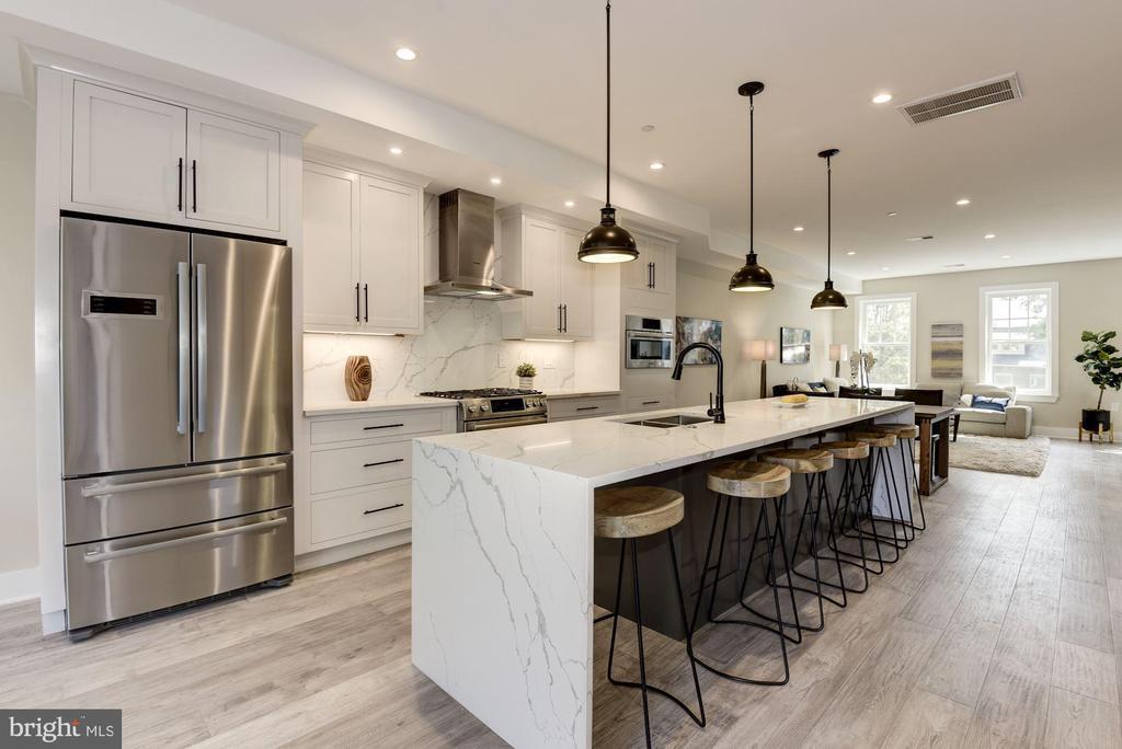 Front Living flows to Kitchen - 1715 KENYON ST NW #2, WASHINGTON