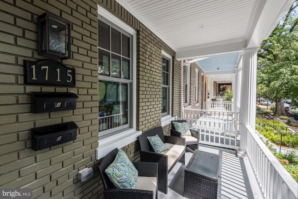Front Porch and Entrance - 1715 KENYON ST NW #2, WASHINGTON