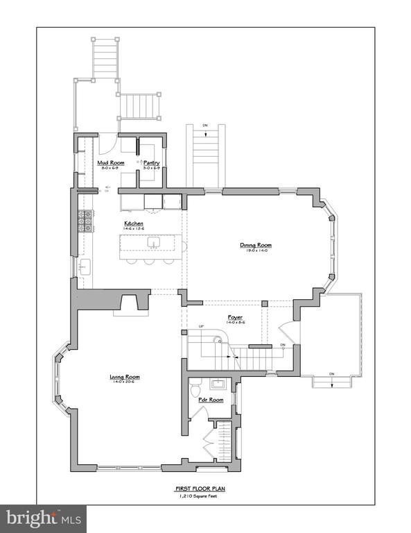 Main level floor plan - 3601 VAN NESS ST NW, WASHINGTON