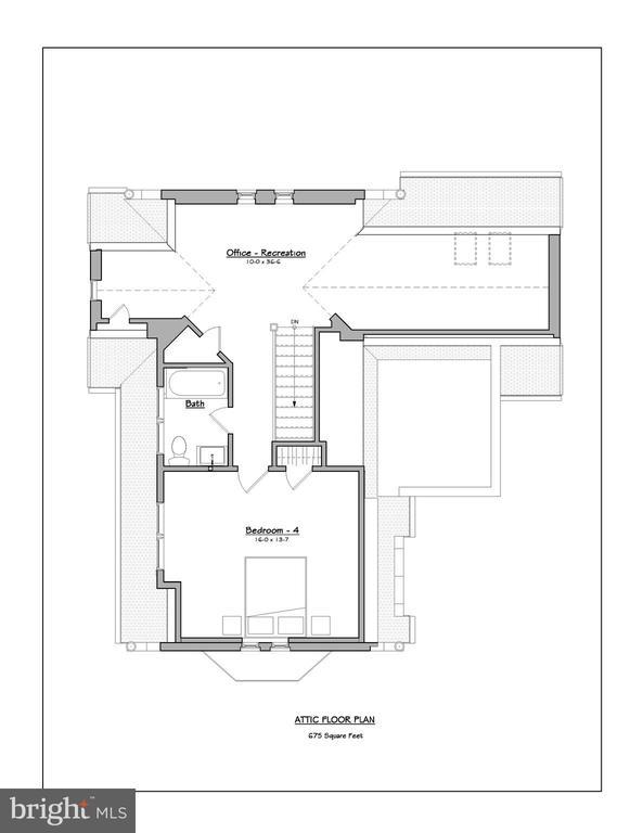 Third level floor plan - 3601 VAN NESS ST NW, WASHINGTON