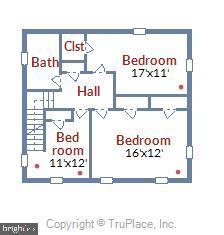Second Floor Floor Plan - 912 W BRADDOCK RD, ALEXANDRIA