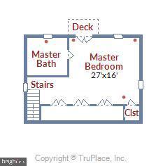 Third Floor Floor Plan - 912 W BRADDOCK RD, ALEXANDRIA
