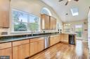 Gourmet kitchen w/granite counters & ss appliances - 912 W BRADDOCK RD, ALEXANDRIA