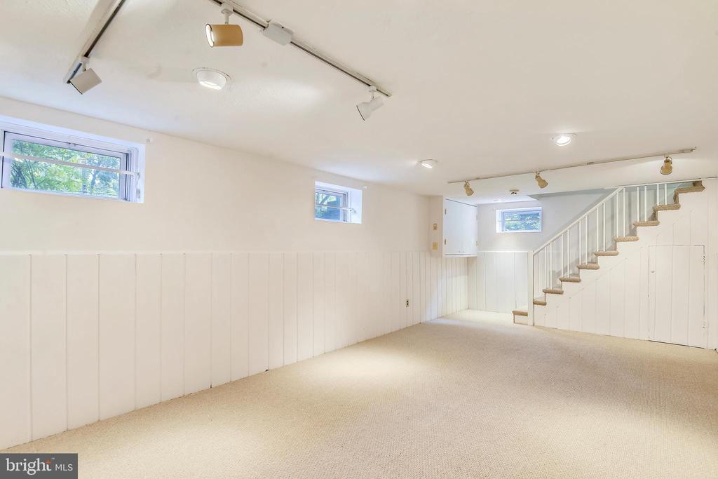 Lower Level Rec Room w/ new carpet - 912 W BRADDOCK RD, ALEXANDRIA