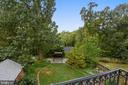 View of garden from Master Suite - 912 W BRADDOCK RD, ALEXANDRIA