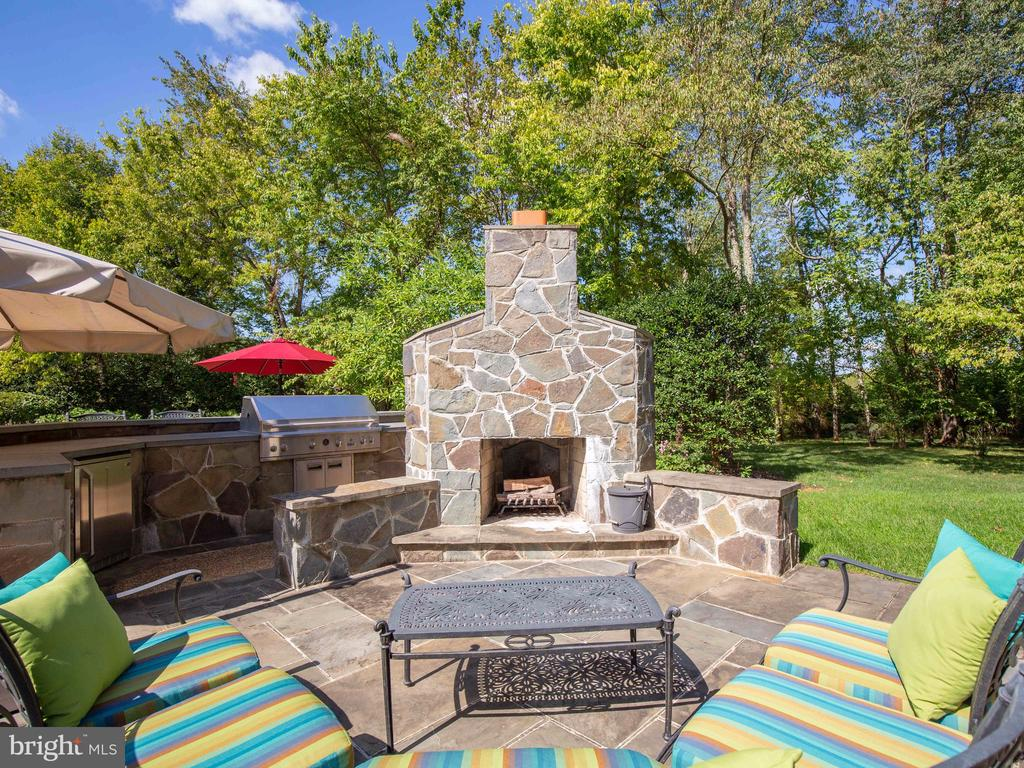 And an outdoor wood burning fireplace - 23429 ROUNDUP PL, ALDIE